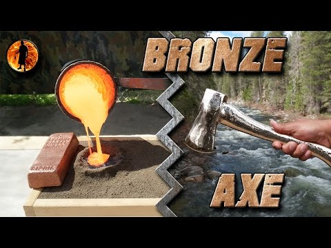 Casting a Bronze Axe Start to Finish