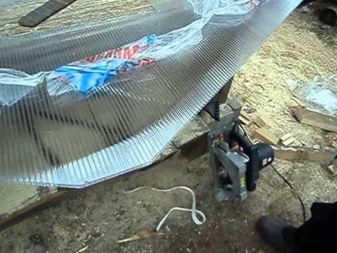 видео: технология монтажа сотового поликарбоната