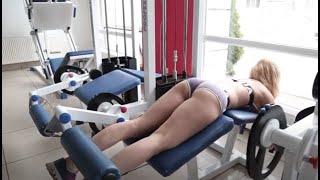 Тренировка ног  (бицепс бедра) - Андрей  Кисель