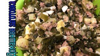 Салат из морской капусты с картофелем и сайрой эпизод №743