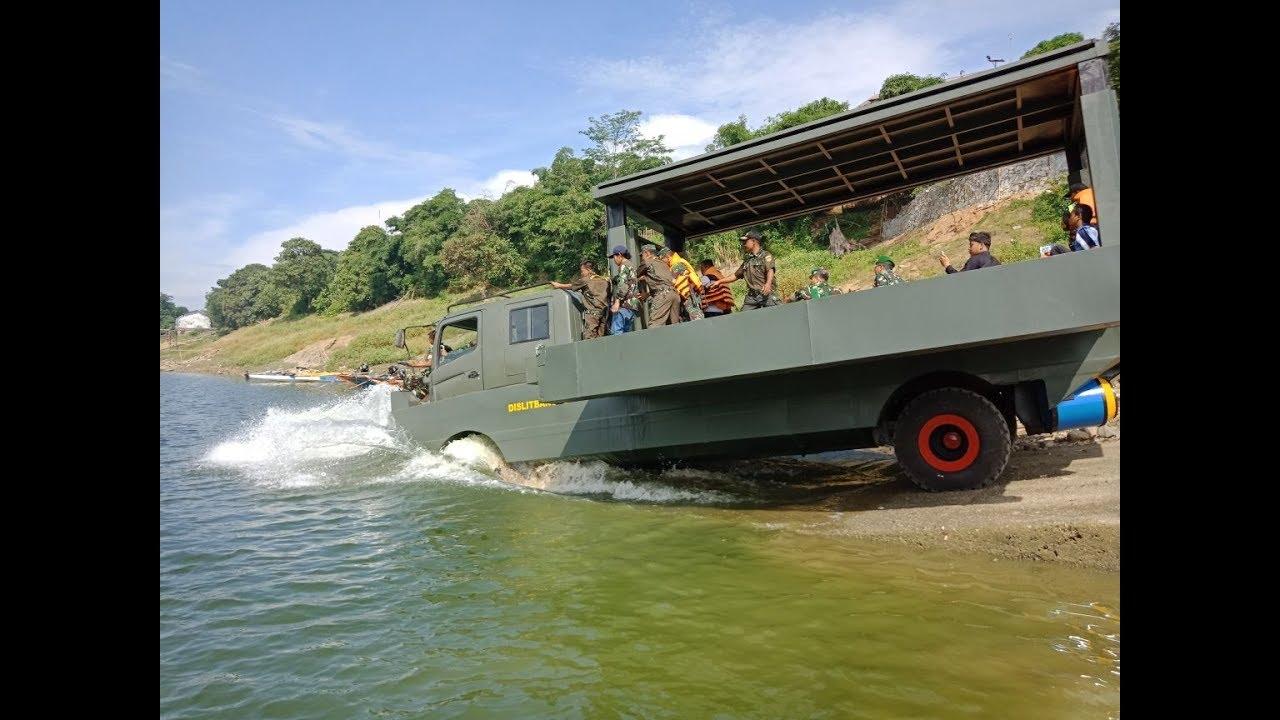 Uji Fungsi Truk Amfibi Hino Ranger FM260TI Milik TNI AD