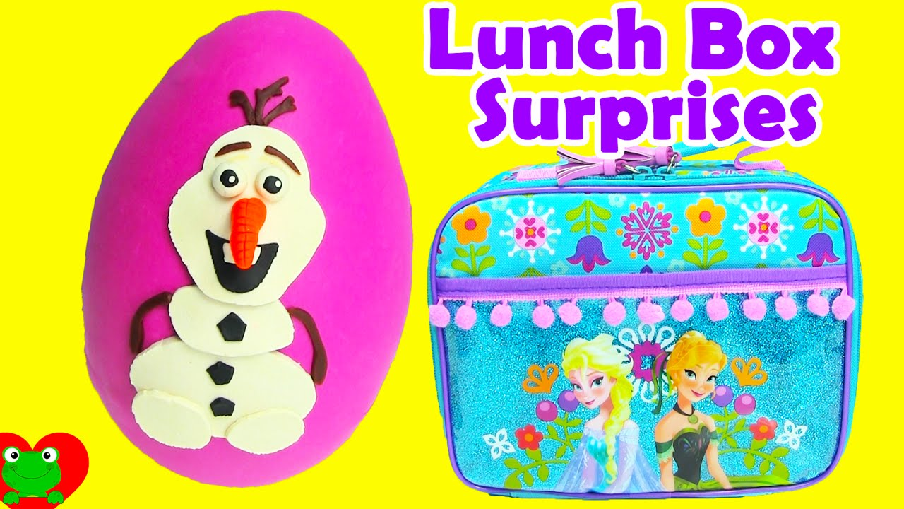 Frozen Lunch Box Surprises Play Doh Olaf Surprise Egg Doovi