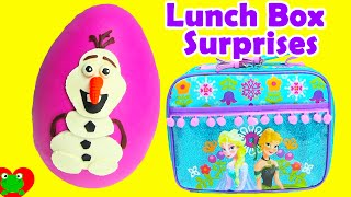 Frozen Lunch Box Surprises Play Doh Olaf Surprise Egg