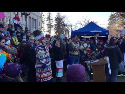 Montana Women's March, Blackfeet Song for Healing Energy