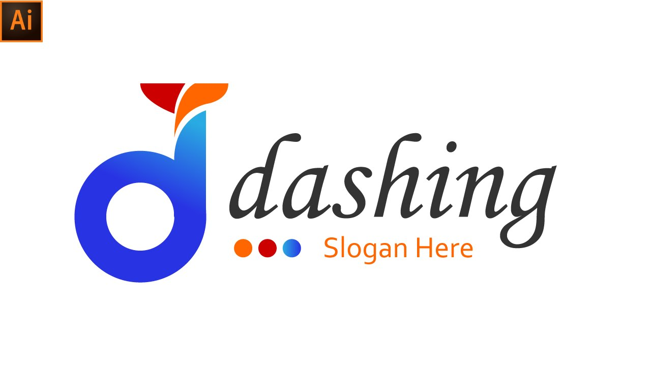 D logo design illustrator cc dashing youtube d logo design illustrator cc dashing thecheapjerseys Image collections