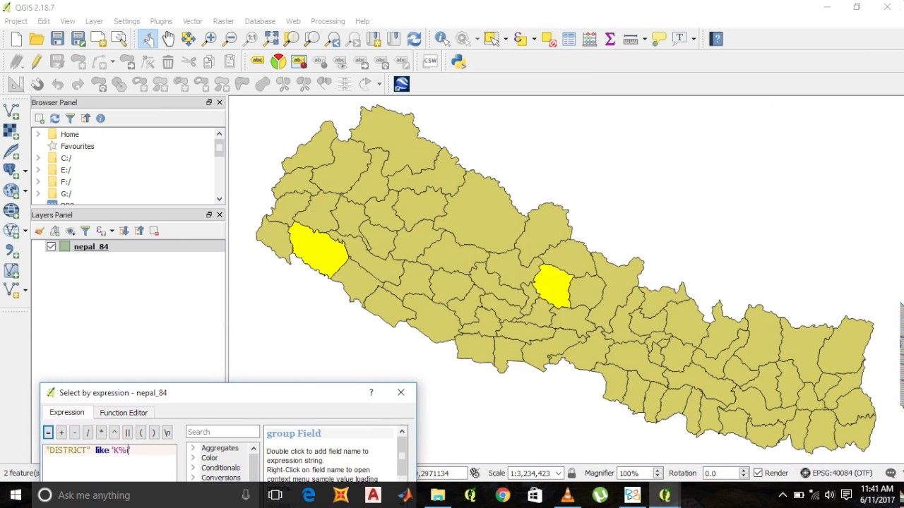 Tutorial for How to search/query in QGIS by tool