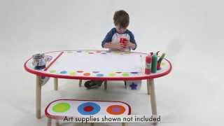ALEX Toys Super Art Table Rainbow Dot 711WC