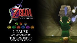 TLOZ Ocarina of Time: All Dungeons in 1 Pause LOTAD in 2:07:50.988