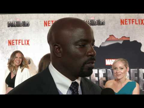 Luke Cage joins the team at the Defenders Red Carpet Premiere
