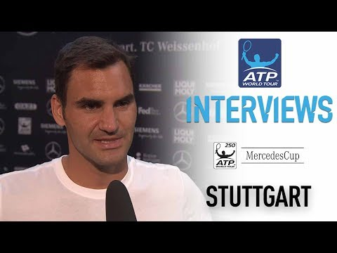 Roger Federer Discusses Loss To Tommy Haas In Stuttgart 2017