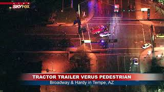 SEMI VERSUS PEDESTRIAN: Broadway and Hardy in Tempe, Arizona (FNN)