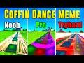 Coffin Dance Meme Noob vs Pro vs Tryhard (Fortnite Music Blocks) - With Code