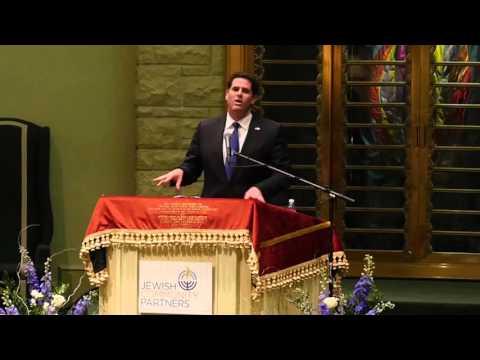 Israeli Ambassador to the United States Ron Dermer speaks in Memphis, TN
