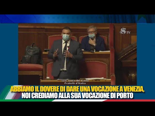 Il Sen. De Carlo interviene sul DL recante misure urgenti  per la salvaguardia di Venezia