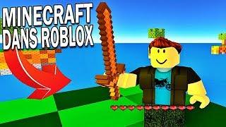MINECRAFT DANS ROBLOX ?! | Roblox !