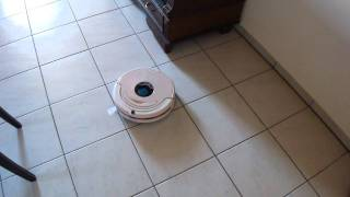 Robot Vacuum Cleaner doing circles to clean area.