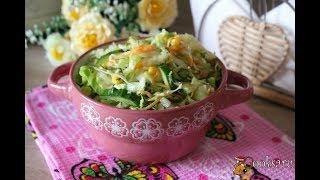 Салат из молодой капусты с кукурузой и свежим огурцом Диетические блюда