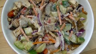 Grilled Chicken And Pecan Mixed Salad Recipe ~ Noreen's Kitchen