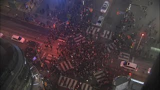 Raptors fans flood Toronto streets to celebrate Game 6 victory