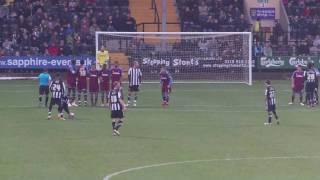 Ben Davies free kick V Tranmere Thumbnail