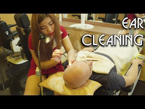 4K 💆 Vietnamese Barbershop - Ear Cleaning and 4 hands massage | ASMR no Talking