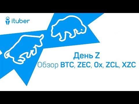 День Z. Обзор BitCoin BTC, ZCash ZEC, ZeroX 0x, ZClassic ZCL, ZCoin XZC