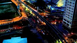 KL Traffic at Dusk