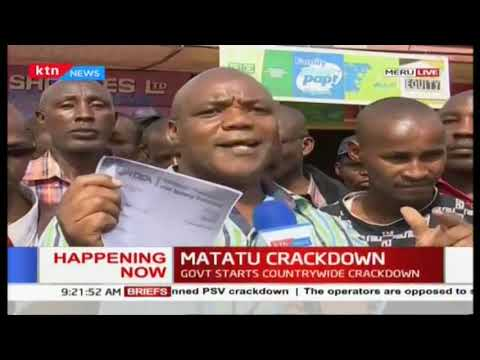 Government starts countrywide matatu crackdown: Meru residents stranded