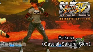 Sakura Casual Sakura Skin (Super Street Fighter IV: Arcade Edition)