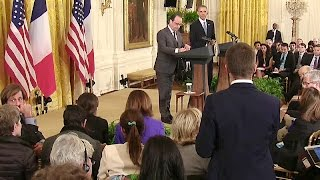 President Obama and President Hollande Hold a Joint Press Conference