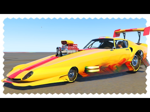 CRAZY DRAG CAR (2000 MPH Challenge)   GTA 5 Car Mods