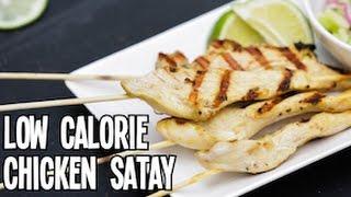 Low Calorie Chicken Satay - Superhero Kitchen