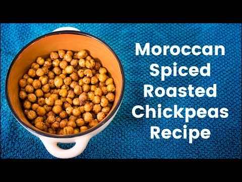 Moroccan Spiced Roasted Chickpeas Recipe