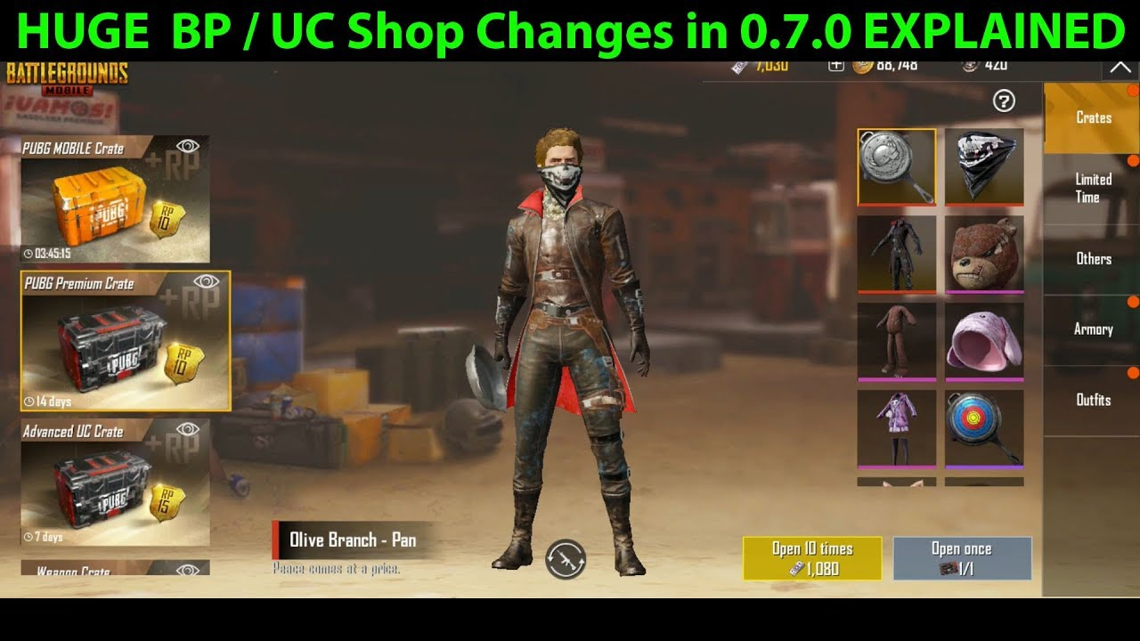 A DETAILED Look at the NEW SHOP in 0 7 0 - SO MANY CRATES!! | PUBG Mobile  Lightspeed