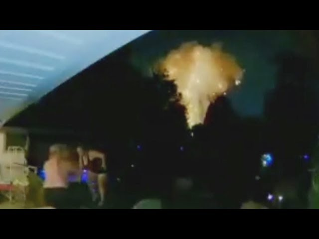 London explosion captured on security camera