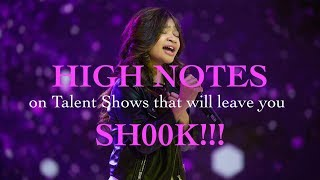 HIGH NOTES on Talent Shows that will leave you SH00K!!!