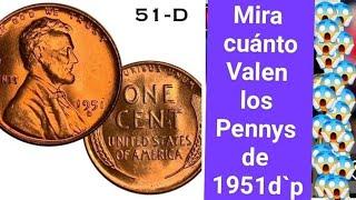 Cuánto vale el penny de 1951
