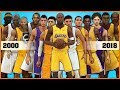 LOS ANGELES LAKERS evolution [NBA 2K - NBA 2K18]