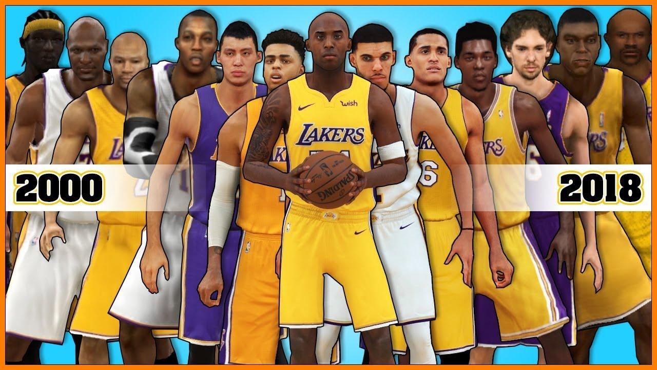6fb571dc3e8 LOS ANGELES LAKERS evolution  NBA 2K - NBA 2K18  - YouTube