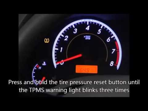 Reset 2007-10 Toyota Camry Tire Pressure Monitoring System (TPMS