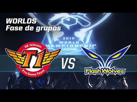 SKT T1 TELECOM VS FLASH WOLVES - #worldsLVP4 - World Championship 2016 - Fase de grupos 4
