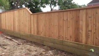 Cedar Wood Fence Install