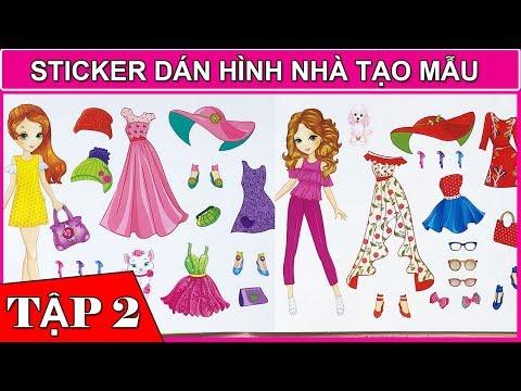 Sticker nhà tạo mẫu Q2 - Dán hình trang phục  búp bê công chúa - Sticker dolly dressing (Chim Xinh)