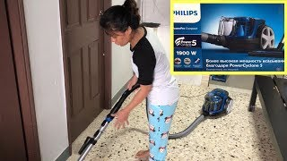 Unboxing Philips Powerpro Compact Bagless Vacuum Cleaner| Setup And Review Vacuum Cleaner
