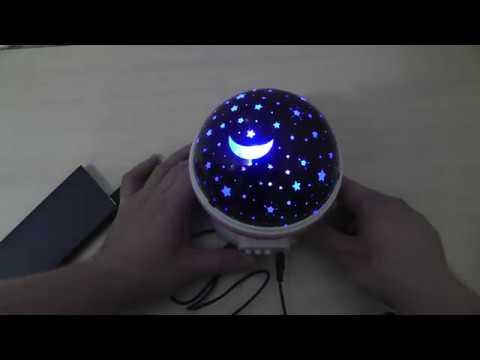 Детский ночник проектор звездного неба Coversage распаковка