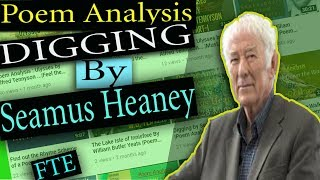 digging by seamus heaney poetic devices