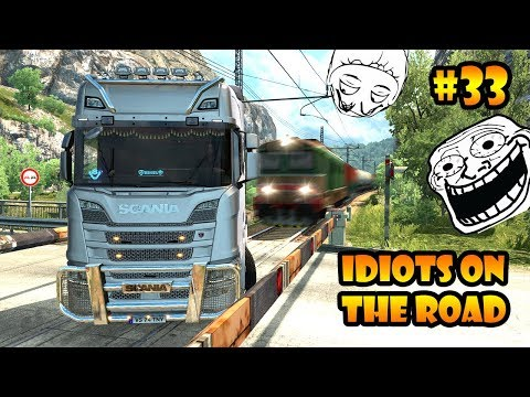 ★ IDIOTS on the road #33 - ETS2MP   Funny moments - Euro Truck Simulator 2 Multiplayer