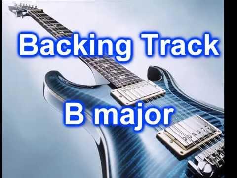 Pop Rock Backing TRack Guitar in B major