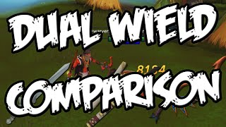 DUAL WIELD WEAPON COMPARISON - MELEE [Runescape]