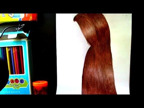 How To Draw Realistic Hair With Colored Pencils Youtube